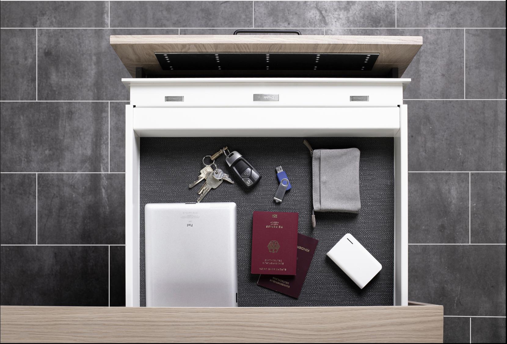 EverydaySafe™ mounted in a kitchen drawer